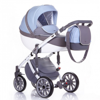 Коляска ANEX SPORT 2 в 1, Q1 ра-07 gray+light-blue