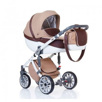 Коляска ANEX SPORT 2 в 1, Q1 (sp 06) beige jacquard+brown eco-leather